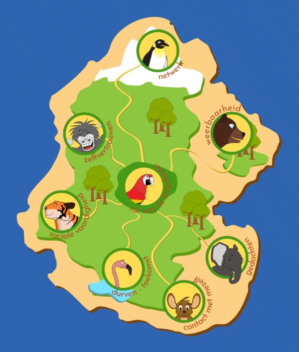 Metaforisch dierenrijk - Landkaart