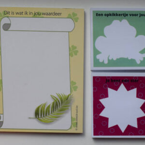 Set notitieblok met post-it